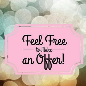 I love reasonable offers!